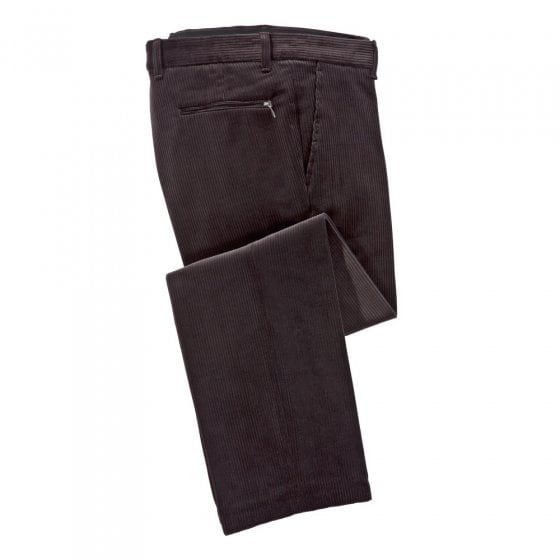 Pantalon en velours stretch, Tabac