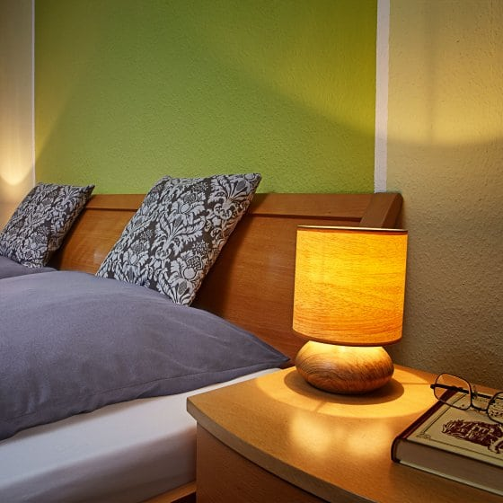 Touch-lamp in hout-decor