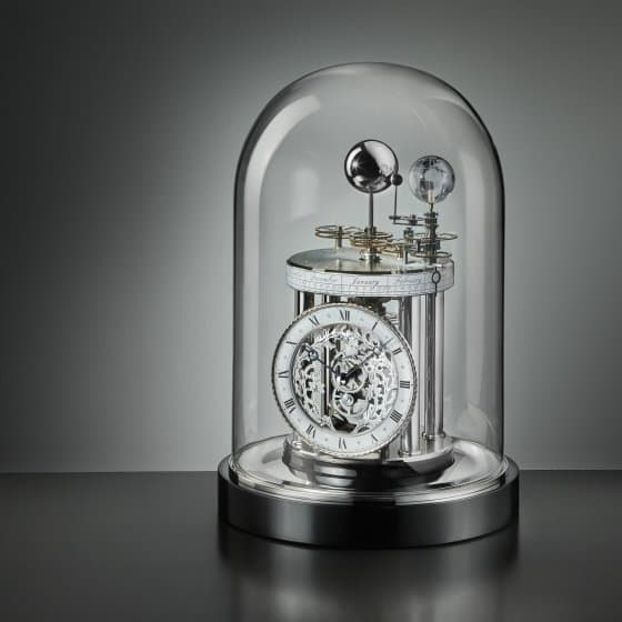 Pendule astrolabe Chrome/noir