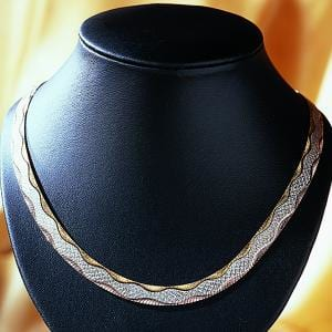 "Collier ""3 Goldtöne"""