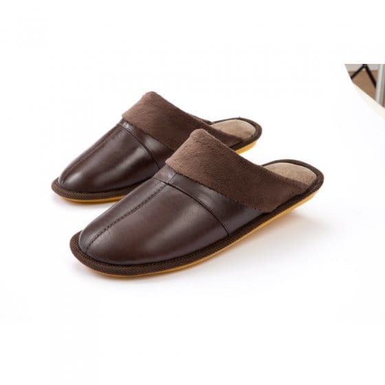 Chaussons cuir ultra légers