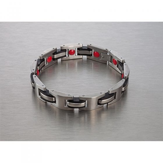 Titaan magneetarmband 'Red Power'