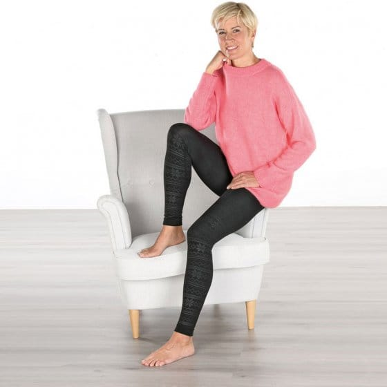 Damen-Leggings mit Muster 3er Set