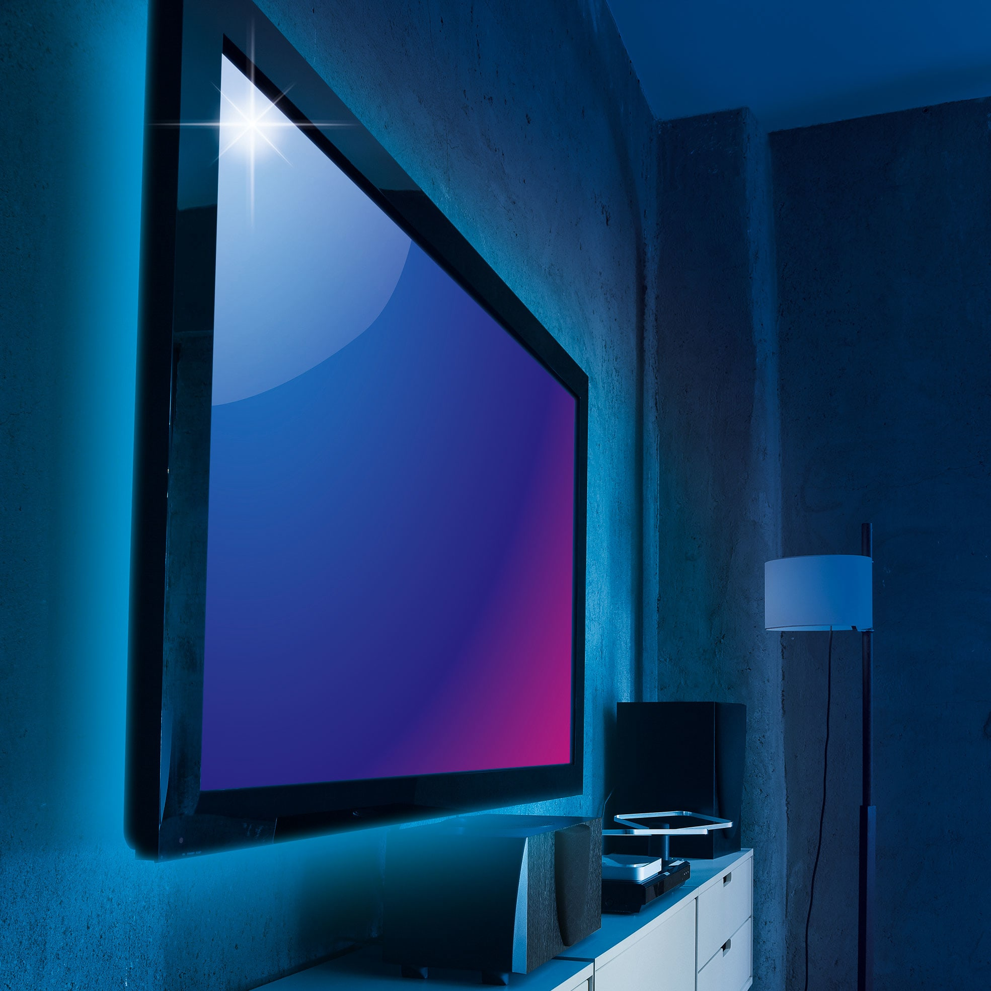 led tv achtergrondverlichting voordelig bestellen bij eurotops. Black Bedroom Furniture Sets. Home Design Ideas